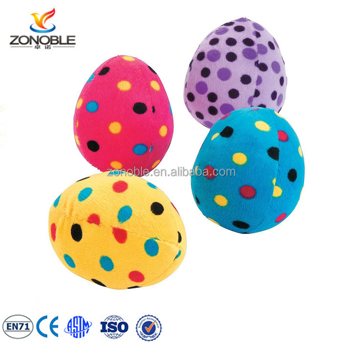Promotional cheap kids toy easter egg soft toy fashion cute colorful stuffed egg plush toy