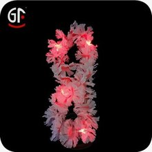 Popular Party Decoration Multicolored Led Artificial Hawaii Lei Necklace
