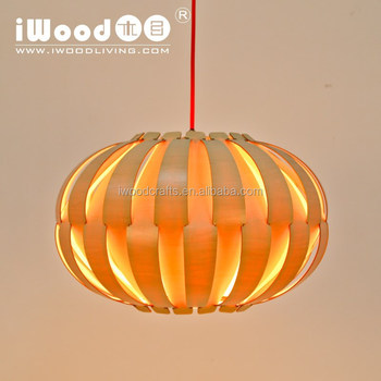 High quality modern Pumpkin shape wooden pendant lamp