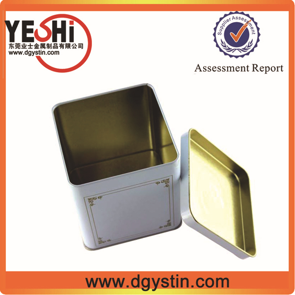 2015 Customize metal square Coffee tin container, tin box supplier