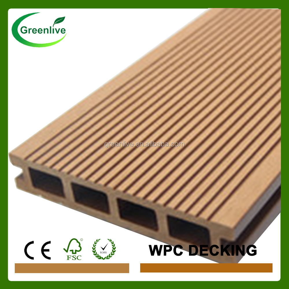 Composite wpc thin deck board