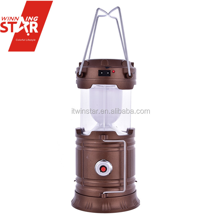 Portable solar 6+1w LED camping lantern egg shape lamp for outdoor