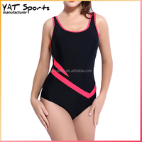 Custom design young girls hot sexy swimwear high cut one piece swimsuit