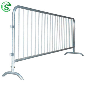 Steel crowd control pedestrian barriers concert events used