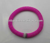 Neon Color Stretch Stainless Steel Mesh Bracelet