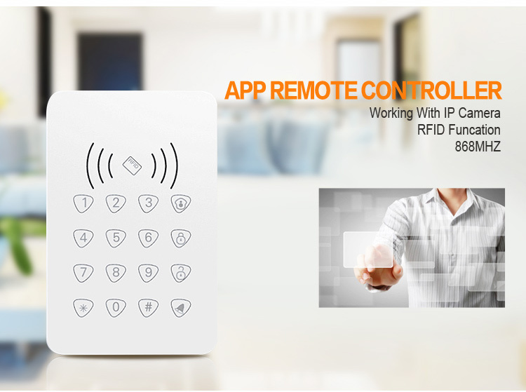 LCD Keypad Wireless GSM GSM 3G GPRS Netowrk Home Alarm System Security House Alarm