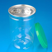 PET jar, 620ml Easy pull plastic can