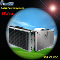 new-solar energy systems portable 15W ac solar kit
