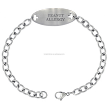 Factory Wholesale Engraved Peanut Allergy, Medical Alert ID Bracelet