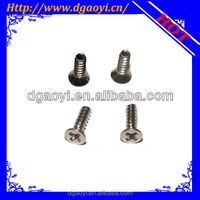 promotional flat head phillip machine screw titanium bolt order form china direct