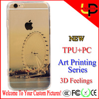 New art printing landscape 3d sublimation phone case for iphone 6/6s