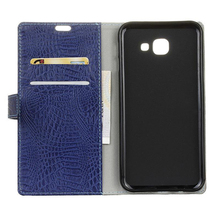 Genuine Leather Wallet Flip Case Cover For Samsung Galaxy J7