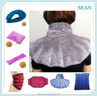 2016 NEW customized seeds filled Hot/Cold microwaveable neck and shoulder heating pad electric