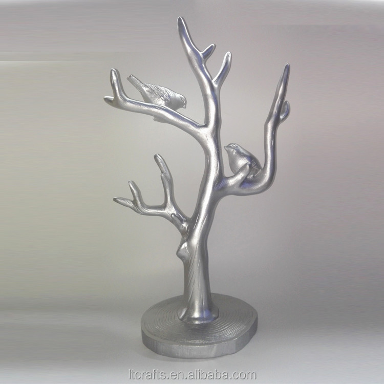 polyresin jewelry stand display handing tree for boutique