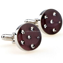 High quality Shirt Cufflinks Wedding Silver Business Mens Wholesale Stainless Steel Crystal