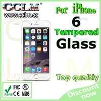 Factory price 9H tempered glass screen protector for iphone 6 screen protector tempered glass