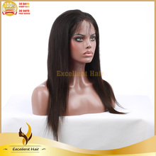 Top quality 100% virgin 5A brazilian loose wave human hair sew in weave full lace wig