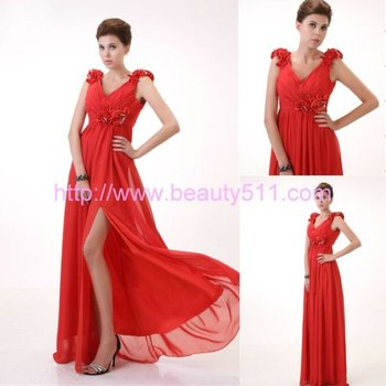 Astergarden New Design handflower beading strap evening dress AS063