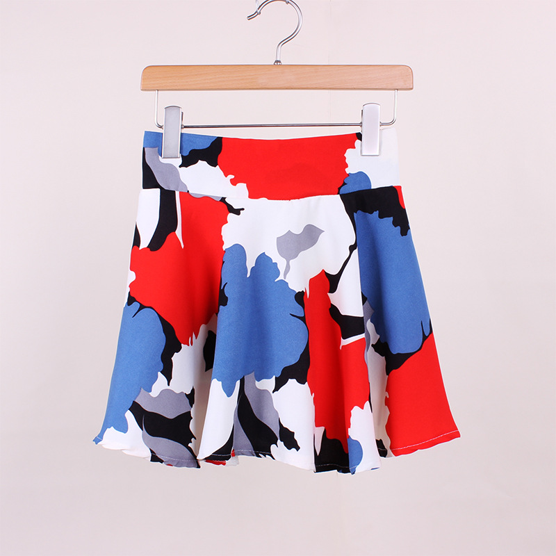 ZH0782A Sexy women colorful short ruffle skirts