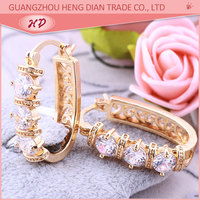 Factory supply 18K Gold Plated fashion earring design saudi gold jewelry