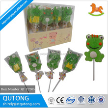 Frog Animal shaped jelly lollipop gummy candy