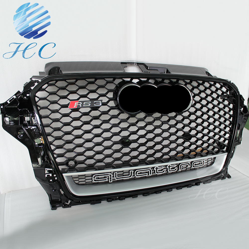 automotive grille mesh for audi a3 rs3 8V in black