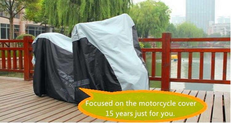 black and silver universal motorcycle cover/specialized bike cover with high quality and free sample