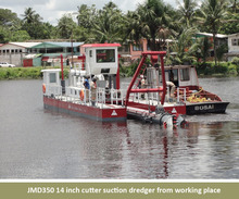 Small China plain cutter dredger for sale with cutter head