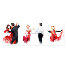 3 Pieces HD Printed Tango Dancer Red Dress Lady Canvas Art Prints Abstract Painting Giclee Printing for Living Room/VA170810-4