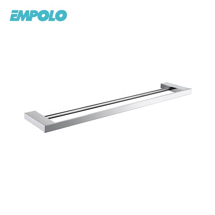 High quality wall mounted brass bathroom accessory double towel bar