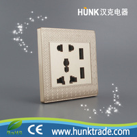 Double USB 2 Gang Electric Wall Plug Faceplate 2 USB Outlets switched socket
