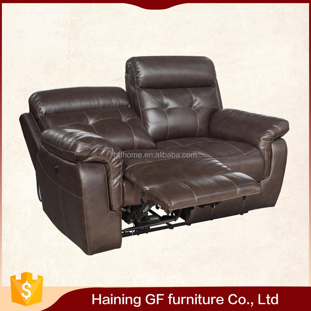 leather couch living room reclining two seat sofa furniture