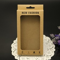 Head hangable kraft paper case Phone packaging case art paper phone case with custom logo