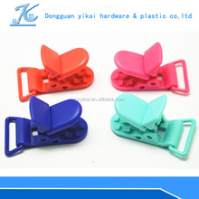 high quality color plastic clothes hanger clips,baby feeding plastic holder clip,plastic dummy clip