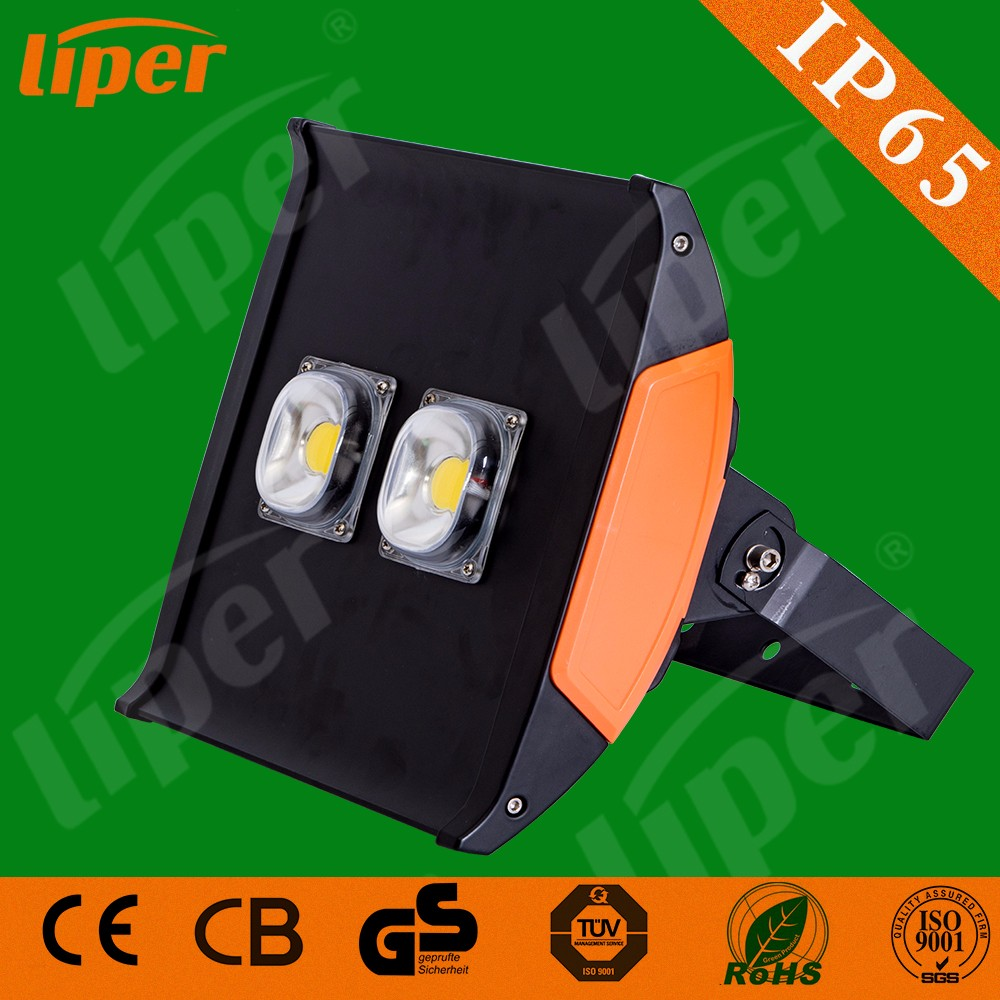 Liper Outdoor lighting stadium tunnel IP65 waterproof Aluminum Epistar chip SMD 100W led flood light with CE CB RoHs