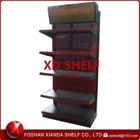 Supermarket Shelf With LED Light Advertising Metal Header