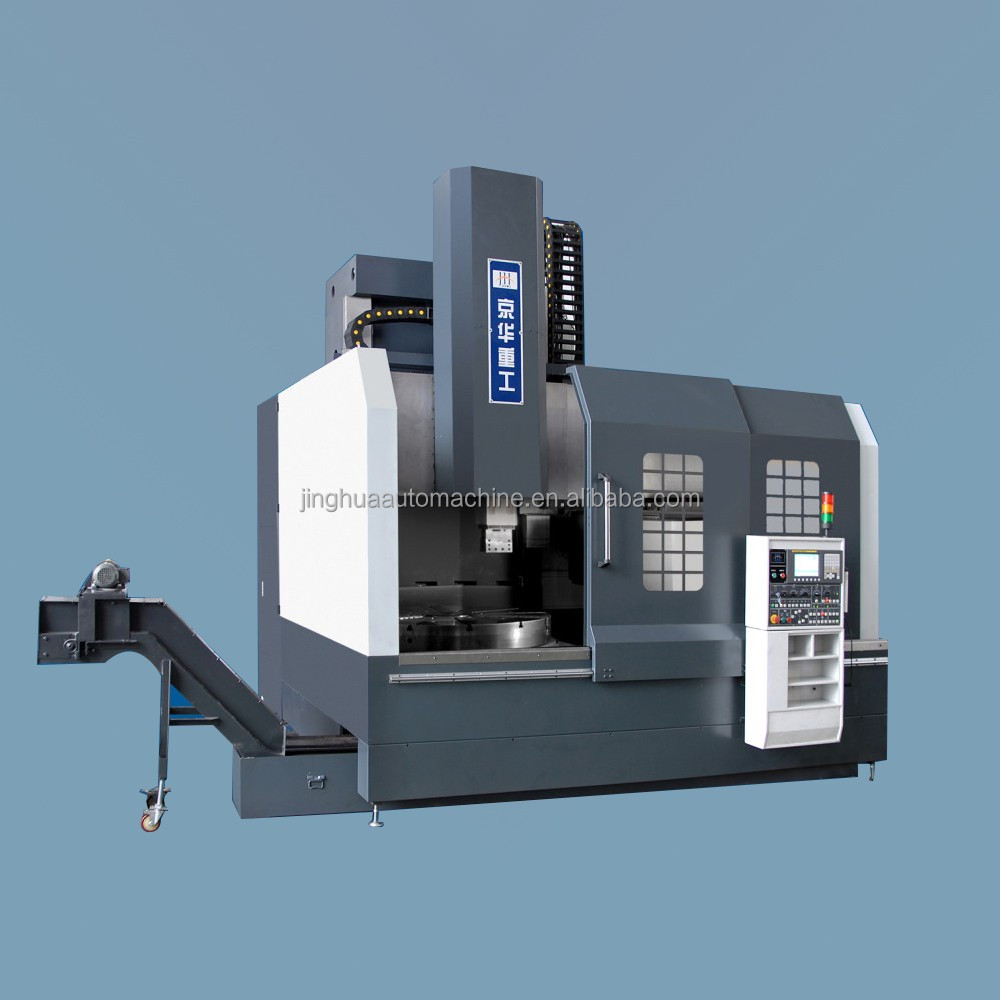 single column cnc vtl machine with milling spindle