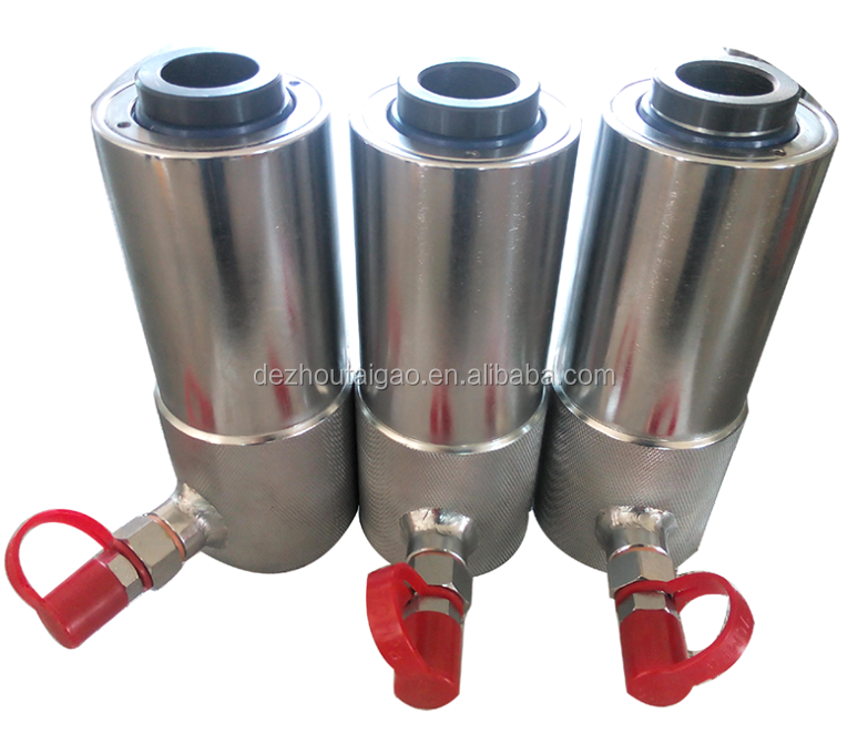 Great quality hydraulic jack 10ton single acting hollow hydraulic cylinder