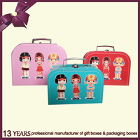 Cute Design Children Paper Cardboard Suitcase