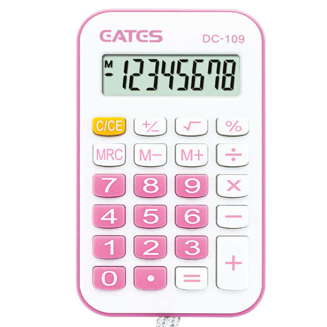 Factory Price Promotion Gift Mini Colorful Calculator With Lanyard 8 Digits Solar Hangings Pocket Calculator