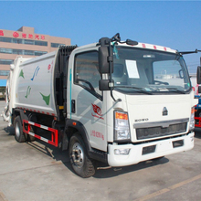 Sinotruk Howo 4x2 waste collection truck 3-5 cubic meter compactor garbage truck price