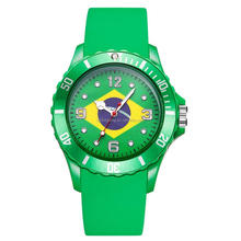 Holiday time manufacturer football Japan movt quartz watch price color strap world cup watches
