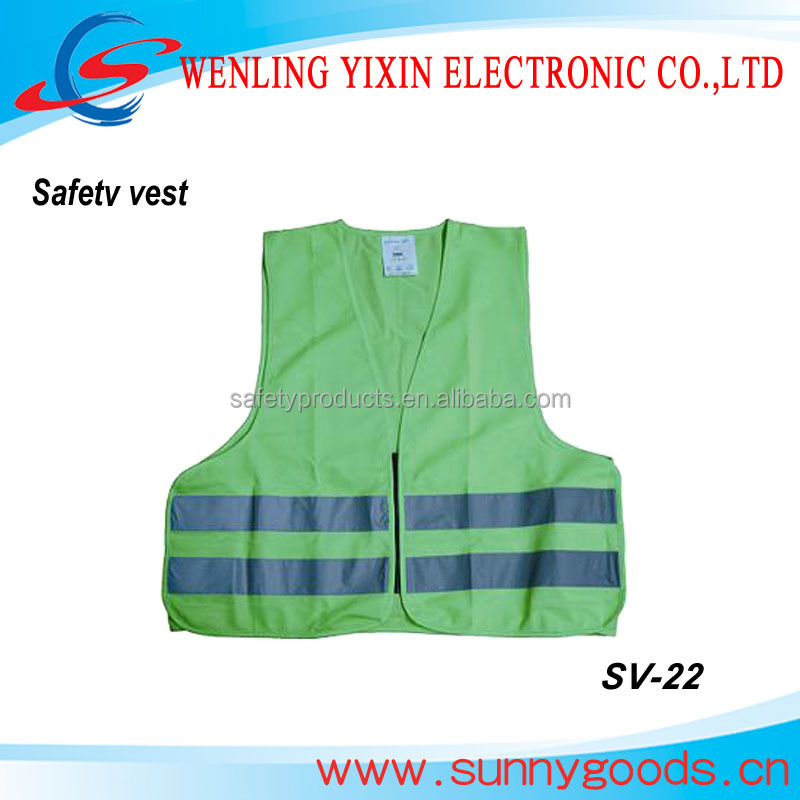 painters workwear, security guard uniforms, lime reflective safety vest SV-22