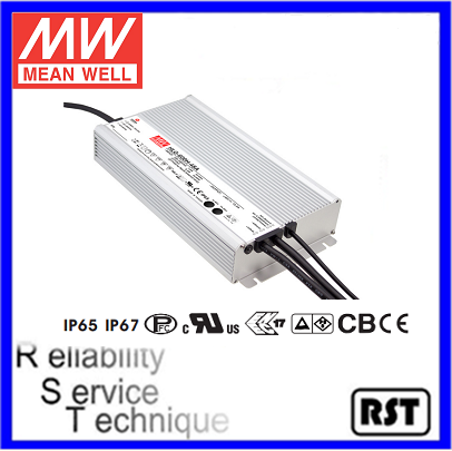 HLG-600H-12 600W 12V 40A with IP65 IP67 made in Taiwan Meanwell ac Input Voltage led tube driver