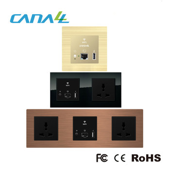 modular design Tempered glass smart access point and router with USB Charging Socket 5V/1A