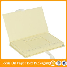 yellow cheap silk wedding invitation box