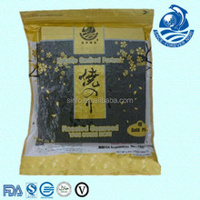 Certified Top Factory China Yaki Food 50 Pcs/bag Gold Plus Nori Nori Fda