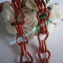 Anodized red colour double hook link aluminum jack chains