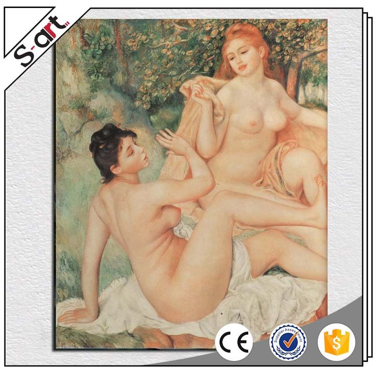 Direct factory hot-sale beach nude woman body oil painting