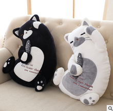 OEM wholesale custom black cat plush toy